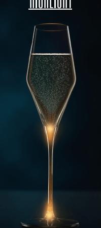 Quatrophil Highlight Champagne Glasses