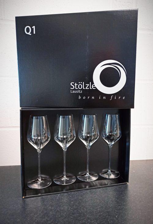 Q1 Stolzle Quatrophil White Wine Glass