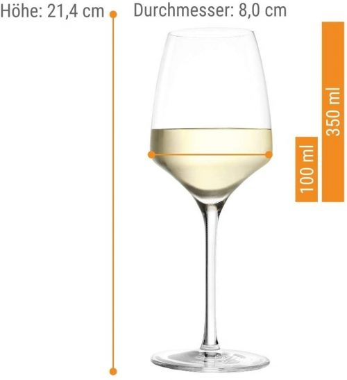 Experience White Wine Glass Dimensions
