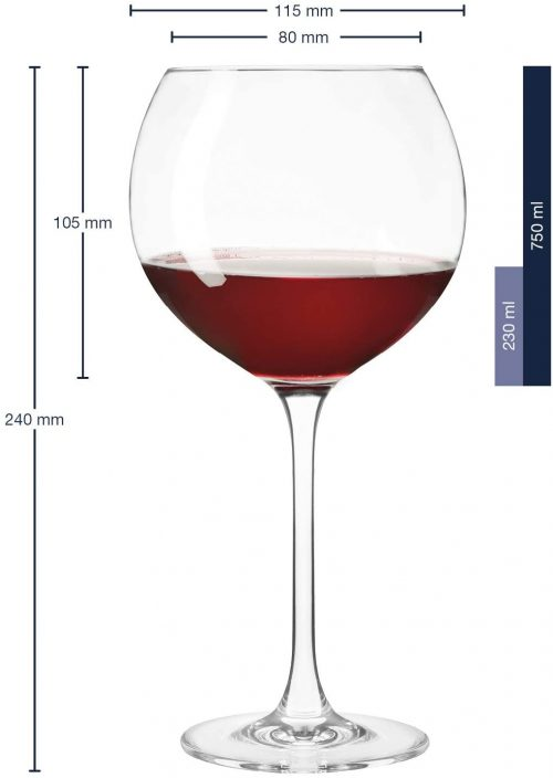Burgundy Wine Glass