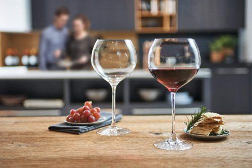 Burgundy Red Wine Glasses