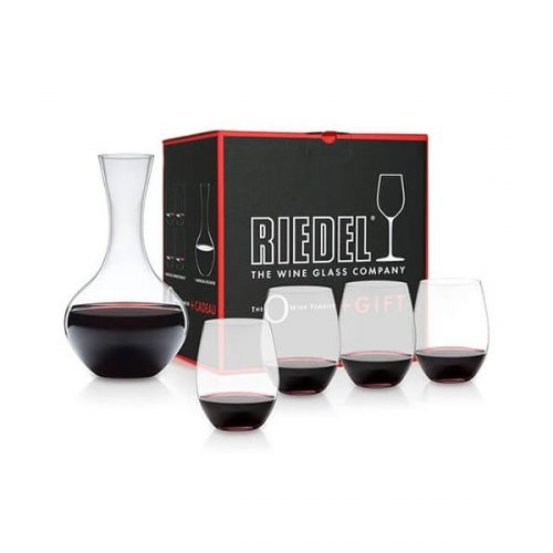 Stemless Wine Glasses and Decanter